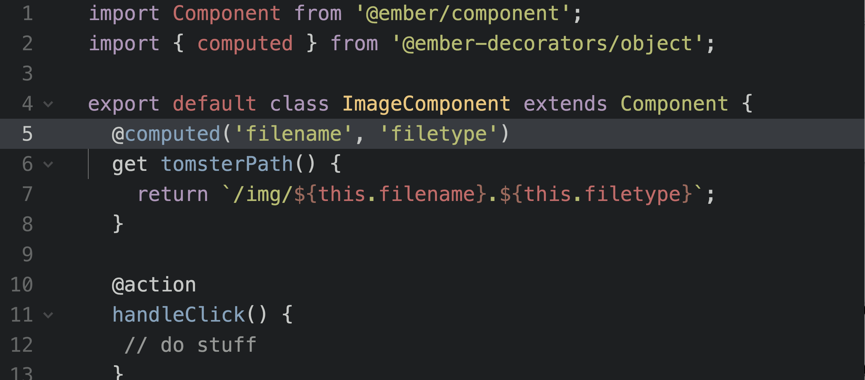 ES Class Syntax in Ember Code Example